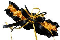 Batman Themed Wedding Garter by AussieWeddingGarters on Etsy, $29.00
