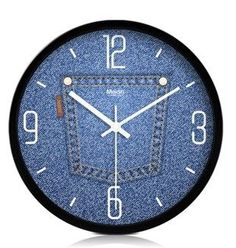 what jeans is it ? Time to make a wall clock Jean Crafts, Denim Crafts, Recycle Jeans, Upcycle, Do It Yourself Jeans, Recycling, Cool Clocks, Denim Ideas, Diy Clock