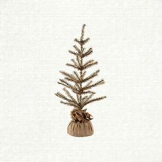 Medium Burlap Tree | Arhaus Furniture 16 in dia x 36 high $39