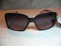 Foster Grant Sudio 35 Suki Womens Pink & Black Rectangular UV Trend Sunglasses #FosterGrant #Designer
