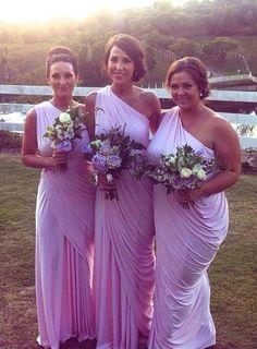 Grecian Bridesmaid Dresses Burgundy