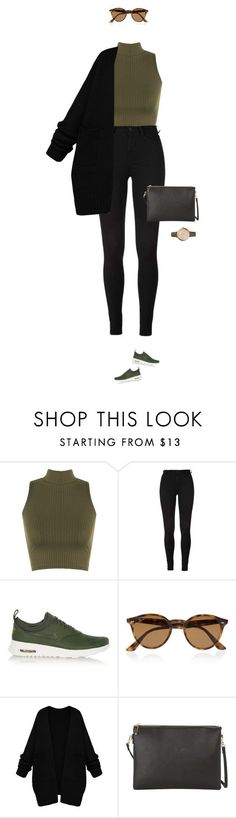 """Casual at its best !"" by azzra ❤ liked on Polyvore featuring WearAll, NIKE, Ray-Ban, MANGO, FOSSIL, women's clothing, women's fashion, women, female and woman"