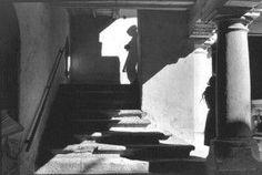 Henri Cartier-Bresson Mexico 1964 Mans shadow girl leaning