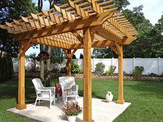 Classic Cedar Pergola >> http://www.diynetwork.com/outdoors/pergola-and-gazebo-design-trends/pictures/index.html?soc=pinterest Backyard Projects, Outdoor Projects, Garden Projects, Cedar Pergola, Diy Pergola, Outdoor Pergola, Pergola Kits, Outdoor Rooms, Deck With Pergola