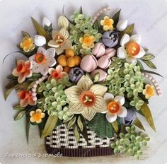 Master Class as to arrange quilled flowers