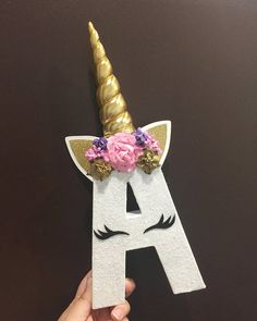 Only Unicorn Letter *Just Unicorns with padded horn/floral headband, no other design - Todo Para la Fiesta Party Unicorn, Unicorn Baby Shower, Unicorn Birthday Parties, First Birthday Parties, Girl Birthday, First Birthdays, Birthday Ideas, Unicorn Pinata, Birthday Gifts