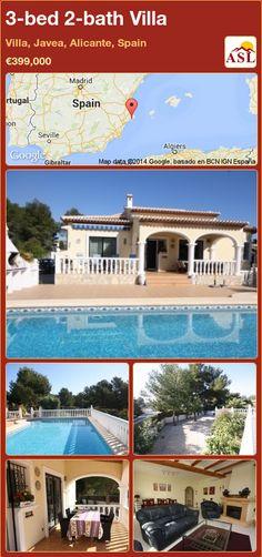3-bed 2-bath Villa in Villa, Javea, Alicante, Spain ►€399,000 #PropertyForSaleInSpain