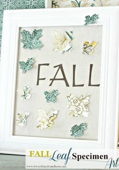 Fall Leaf Specimen Art (Tutorial) - Love of Family & Home Fall Crafts, Crafts For Kids, Diy Crafts, Floral Arch, Crafty Craft, Crafting, Happy Fall Y'all, Fall Diy, Fall Home Decor