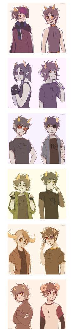 I gotta admit, genderswap-Eridan is cute. And Terezi is sorta hot. Dude, Im weird.
