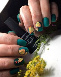 70 current trend colors and gel nails for fall - Nail Designs Fall Gel Nails, Fun Nails, Acrylic Nails Natural, Thanksgiving Nails, Thanksgiving Ideas, Coffin Nails Matte, Fall Nail Art Designs, Gel Nail Colors, Trendy Nail Art