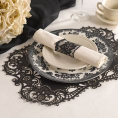 Add elegant flair to your wedding and party table settings with this Laser-Cut Place Mat. Choose from one of our versatile three colors, one is bound to match most wedding color themes and/or schemes.