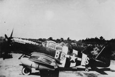 """P-51B Mustang """"Old Crow"""" of the US 357th Fighter Group in invasion stripes for D-day (Imperial War Museum, Roger Freeman Collection)"""