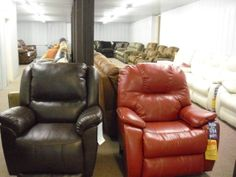 More Recliners and Sofas.