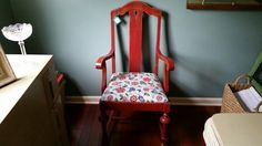 Shabby Chic Antique Red Arm Chair