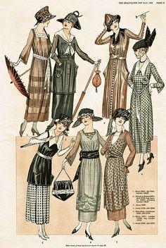 Vintage 1920s dress illustrations | 1922