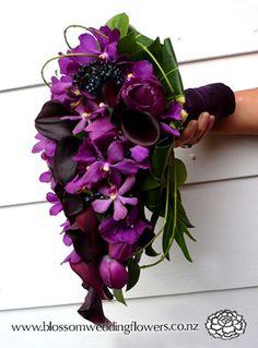 purple hydrangea wedding bouquet: taramaso photo