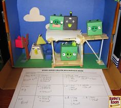 Use angry bird nets to make 3D shapes and then measure area and volume.  Build a catapult and measure the distance they fly?  Measurement, angles, building structure...?
