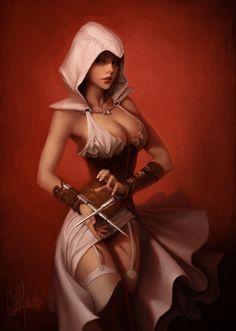 Assassin's Creed ArtBook - Ubisoft - Will Murai- Female Ezio
