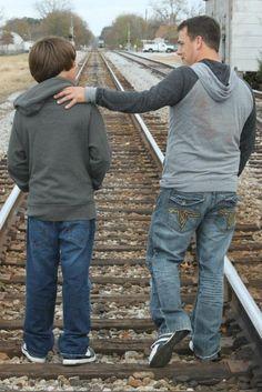 father and son photo idea
