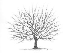 Diy: árbol de huellas imprimible para bodas