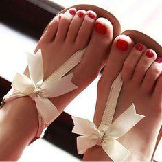 Bowknot is flat sandals
