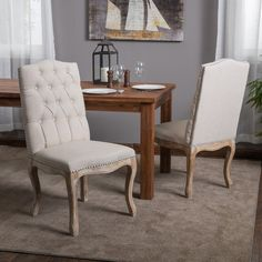 Christopher-Knight-Home-Beige-Tufted-Fabric-Weathered-Hardwood-Dining-Chairs-Set-of-2-c80f0781-551f-409b-b464-08e2ffac8da0_600.jpg (600×600)