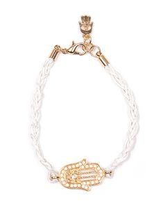 White Hamsa Bracelet <3