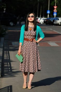 Brown and turquoise chic.