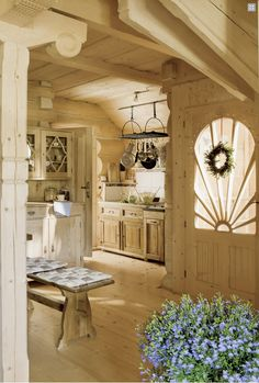 ".I LOVE everything about this ""Cottage"" Kitchen"