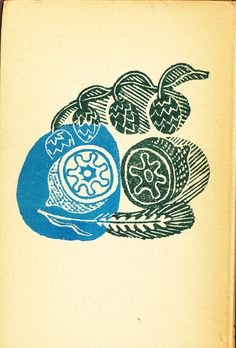 Edward Bawden, back cover linocut design for Good Drinks by Ambrose Heath