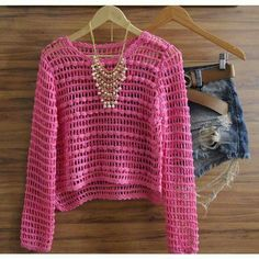 Sweater tejido a crochet                                                                                                                                                                                 More
