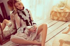 Hailey Clauson Models Sheer Styles for Harper's Bazaar en Español