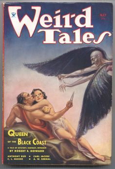 Weird Tales, May 19___? C.L. Moore story included.