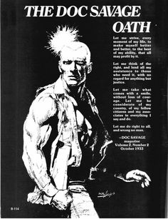 The Doc Savage Oath    - Doc Savage magazine  Volume 2, Number 2  October 1933