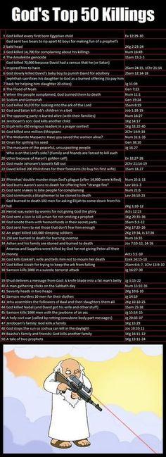 God's killings in the Bible