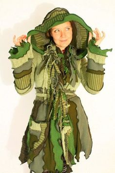 TUTORIAL - Pixie Coat made from Recycled Sweater - Forest Nymph. $9.00, via Etsy.