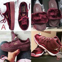 b5457d3189 shoes rihana fenty x puma burgundy jordans creepers puma fenty slides air  jordan puma winter look sneakers swag fur puma rihanna fenty faux fur  slippers ...
