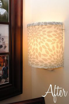 cover a lamp shade with fabric