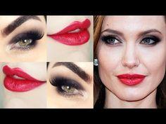 Angelina Jolie Makeup - Tutorial de Maquiagem - YouTube