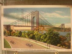 Riverside Drive, George Washington Bridge and Hudson River, New York City, c. 1935