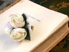 Io bianco anello fiori Vintage rosa pesco fiori di vintagebynina