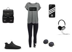 """gym  styles"" by thushani-fernando on Polyvore featuring adidas Originals, adidas, Sole Society and Frends"