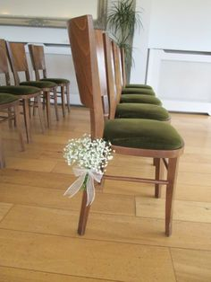 Gypsophila chair decoration