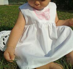 baby white dress bambina vestito in cotone bianco di FillesEnFleur, €25.00