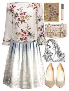 """""""142"""" by erohina-d ❤ liked on Polyvore featuring Chicwish, Jimmy Choo, Judith Leiber, Chanel and Juicy Couture"""