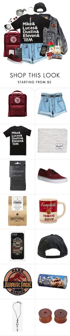 """Untitled #51"" by konoko ❤ liked on Polyvore featuring Levi's, Fjällräven, Chicnova Fashion, Hot Topic, Herschel Supply Co., Topshop, Vans, Volcom, Tour De Force and NOVICA"