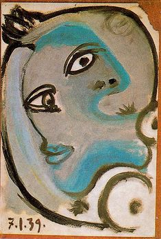 "Pablo Picasso, ""Head of Woman 5"" 1939 Oil on canvas."