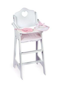 Badger Basket Doll High Chair With Plate Bib And Spoon - Pink/White Badger Basket http://www.amazon.com/dp/B0001XNTJA/ref=cm_sw_r_pi_dp_N65pub1M9PJH1