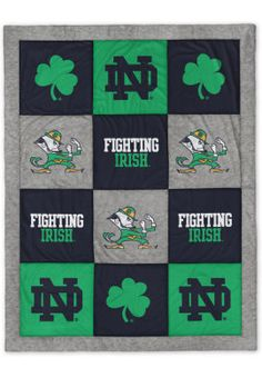 Planning to deck your dorm room out in Irish gear this school year? Your bed NEEDS this blanket with your favorite Notre Dame logos, including the leprechaun, the monogram, and the shamrock! Notre Dame Logo, Notre Dame Shirts, Notre Dame Irish, But Football, Notre Dame Football, College Football, Football Quotes, Alabama Football, American Football