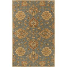 Hand-Tufted Whitby Floral Wool Rug (6' x 9') - Overstock™ Shopping - Great Deals on 5x8 - 6x9 Rugs